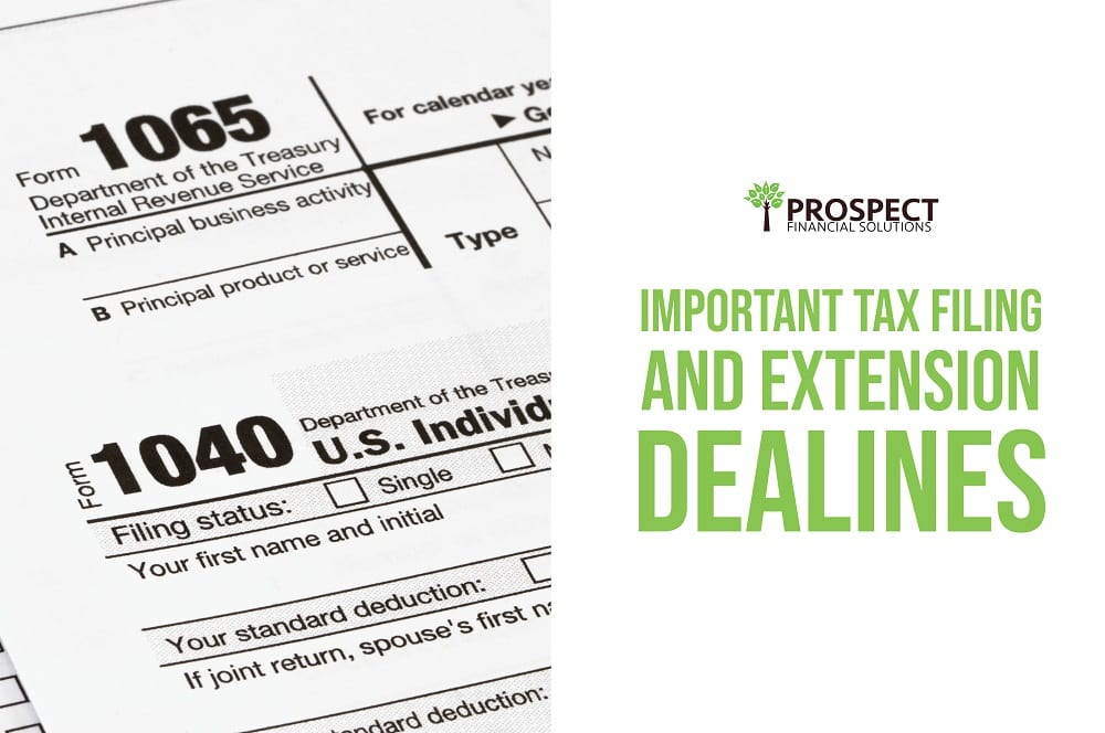 Important Tax Filing and Extension Deadlines: 2020